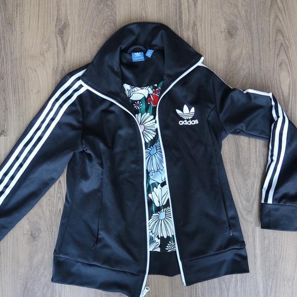 bbfb4c57d90f adidas Jackets   Blazers - Adidas Custom Black Track Jacket (SIZE ...